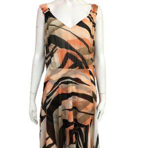 Le Chateau Coral Print XL Size Dress